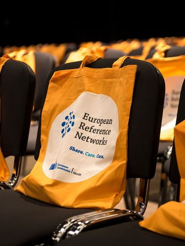 Promotional bags on chairs