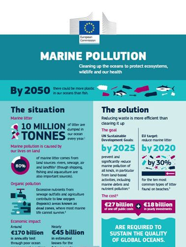 First part of infographic on marine pollution